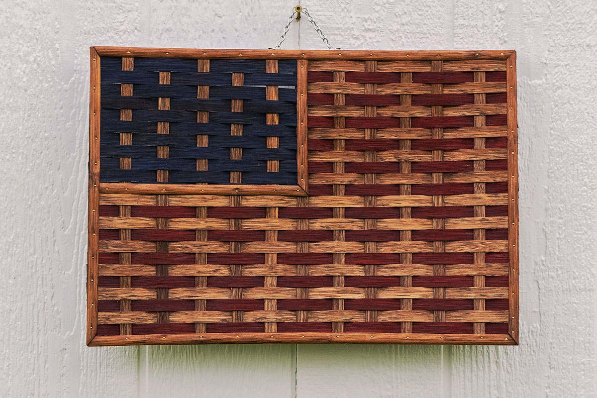 Amish Made Decor - Large Woven American Flag