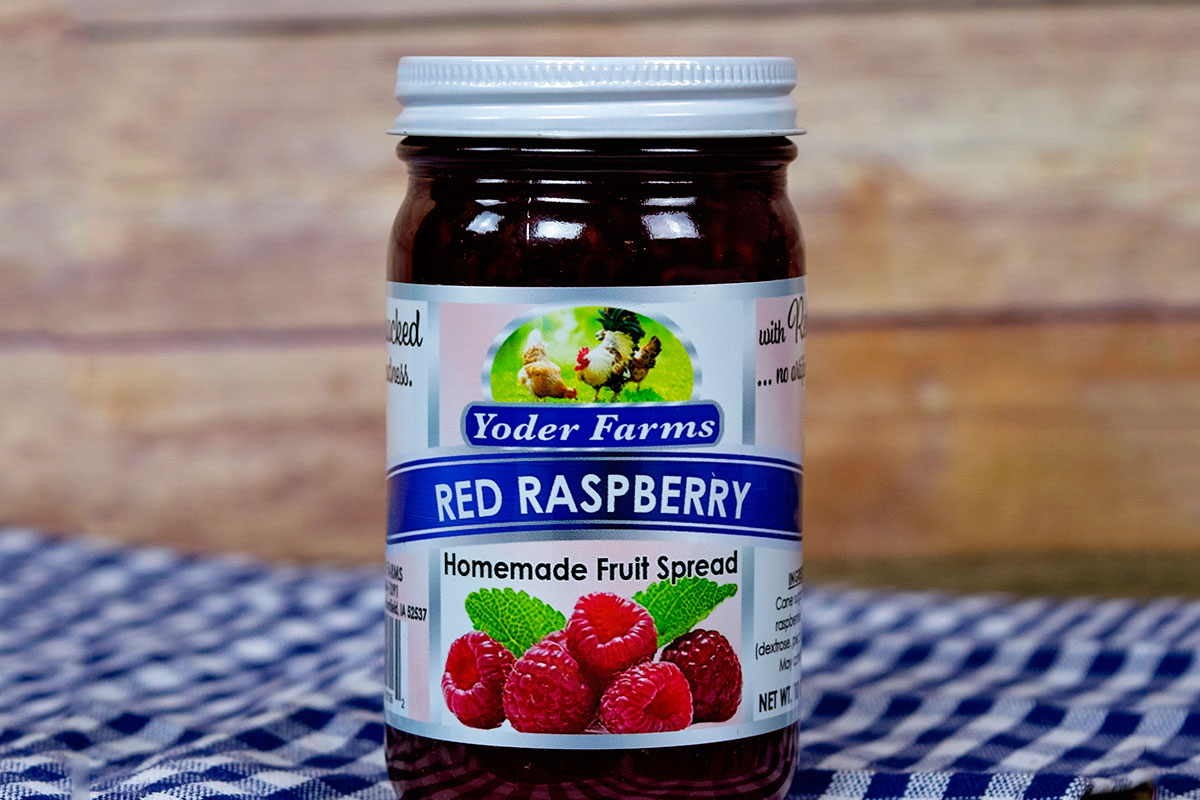 Amish Made Homemade Jams And Jellies Red Raspberry